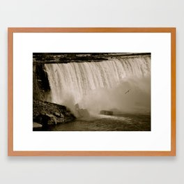 3 Gulls in the Deluge Framed Art Print