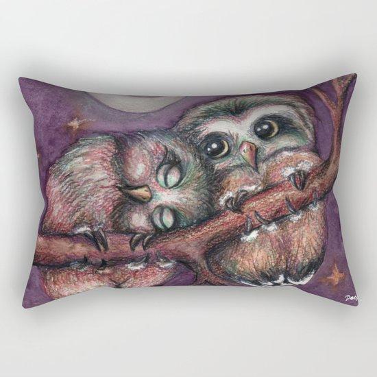 Owls in love II Rectangular Pillow