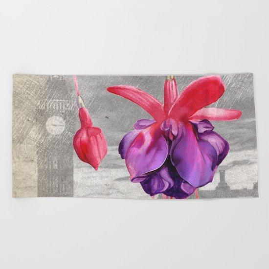 Macro Flower #7 Beach Towel