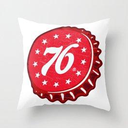 Vintage 76 Cola Soda Pop Bottle Cap Throw Pillow