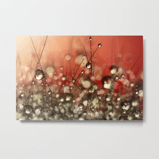 Riot Red Cactus Sparkles Metal Print
