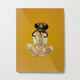 Buggin Out - mustard Metal Print