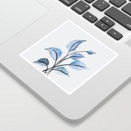 Blue leaves Sticker