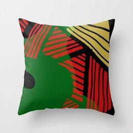 Abstract Organic Rasta Shapes Throw Pillow