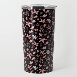 Japanese Maple Dark Pattern Travel Mug