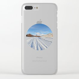 winter panorama of the village Clear iPhone Case