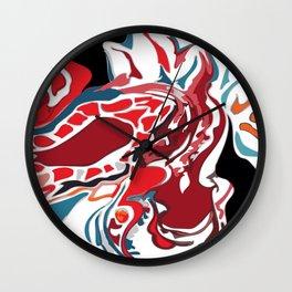 Paisley on Fire Wall Clock