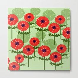 Poppies Contempo Metal Print