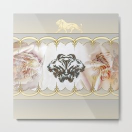 Lion silhouette Metal Print