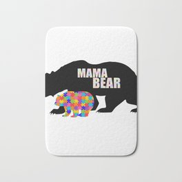 Mama Bear Autism Awareness Support Bath Mat