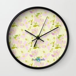 Wild Rose 66 Wall Clock