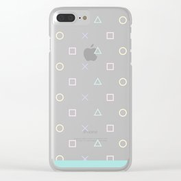 Gamer Girl - Pastel Playstation Controller Buttons Clear iPhone Case