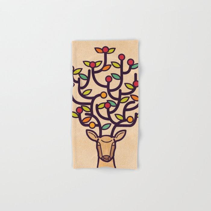 One Happy Deer Hand & Bath Towel