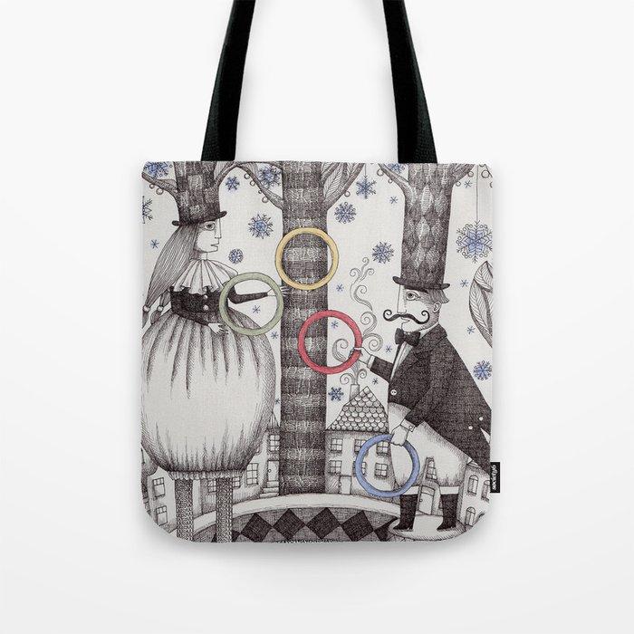 Winter Circus Tote Bag