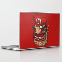 super mario Laptop & iPad Skins featuring Mario by Lime