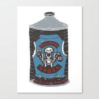 die hard Canvas Prints featuring Die Hard Lager by Moto