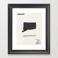 Connecticut Map Framed Art Print