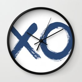 Xoxo painted navy Wall Clock
