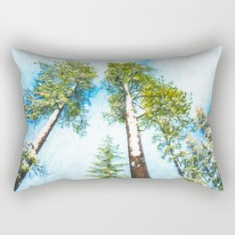 Snow in Sequoia National Park Rectangular Pillow