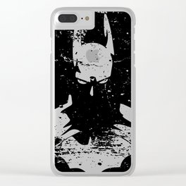 The Bat Returns Grunge Clear iPhone Case