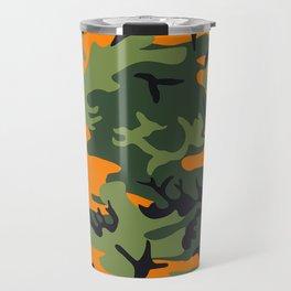 Camouflage Orange Travel Mug