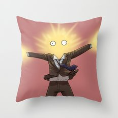 With a BANG - Doctor Who Throw Pillow