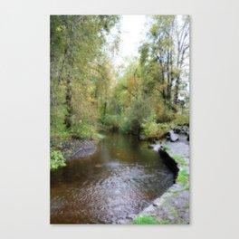 Autumn Creekside Canvas Print