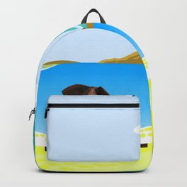 relaxing elephants by the beach Backpack