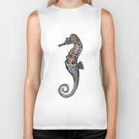 seahorse Biker Tanks featuring Seahorse by SilviaGancheva