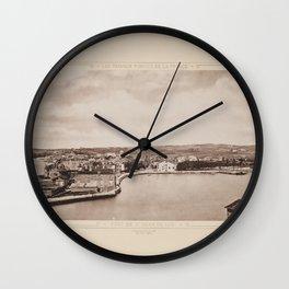 Port de St. Jean de Luz Les Travaux Publics de la France Wall Clock