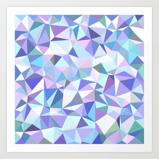 Light purple geometry Art Print