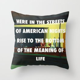 New York City Nighthawks Throw Pillow