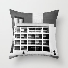 Architecture of Impossible_Como Le Corbusier Throw Pillow