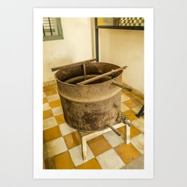 S21 Water Torture Barrel - Khmer Rouge, Cambodia Art Print