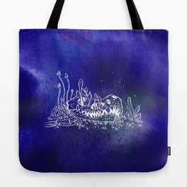 Dino skull – Blue Tote Bag