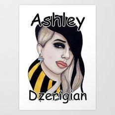 Ashley Dzerigian is TRESPASSER Art Print