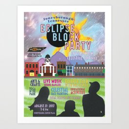Tennessee Eclipse Block Party 2017 Art Print