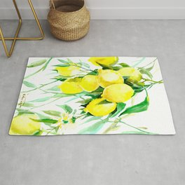 Lemon Tree kitchen decor art towel lemon Rug
