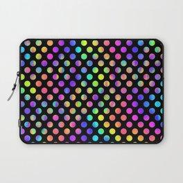 Rainbow Polka Dot Pattern Laptop Sleeve