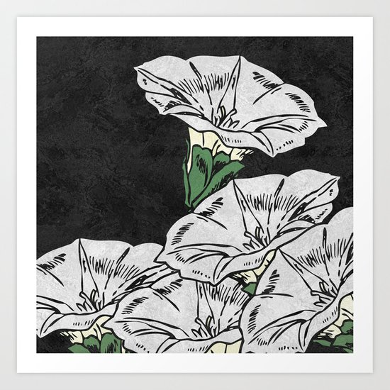 MARBLE FLOWERS (abstract) Art Print