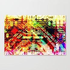Color circuit Canvas Print