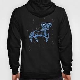 Aries Constellation and Zodiac Sign with Stars Hoody