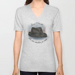 Hat for Leonard Cohen Unisex V-Neck
