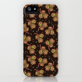 Dark hazelnuts pattern iPhone Case