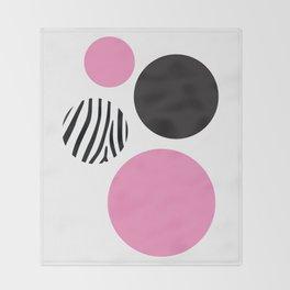 Pink zebra Throw Blanket