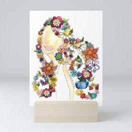 Flower Girl One Mini Art Print