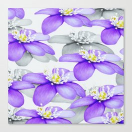 Spring Forest Blue Flowers #decor #society6 #buyart Canvas Print