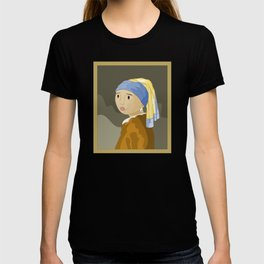 Girl with pearl by Vermeer  T-shirt