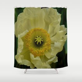 Yellow Cosmo Shower Curtain