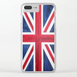 Union Jack Acrylic on Canvas Clear iPhone Case